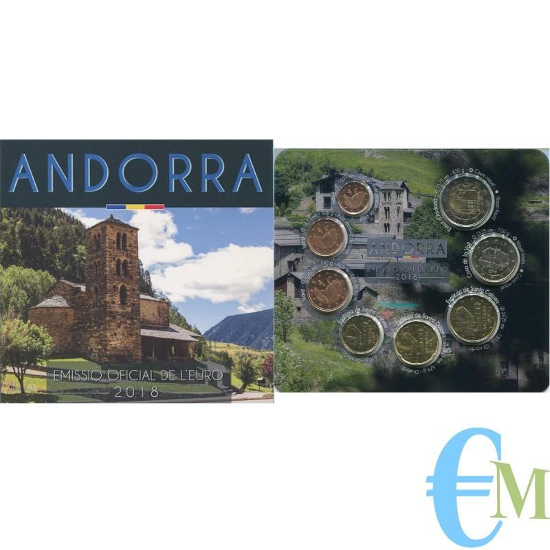 Andorra 2018 - Divisionale Euro Ufficiale - 8 valori