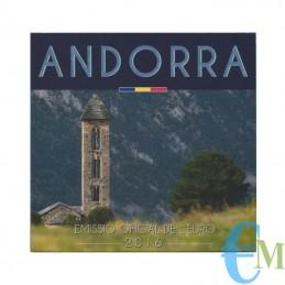 Andorra 2016 - Divisionale Euro Ufficiale - 8 valori