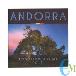 Andorra 2015 - Divisionale Euro Ufficiale - 8 valori