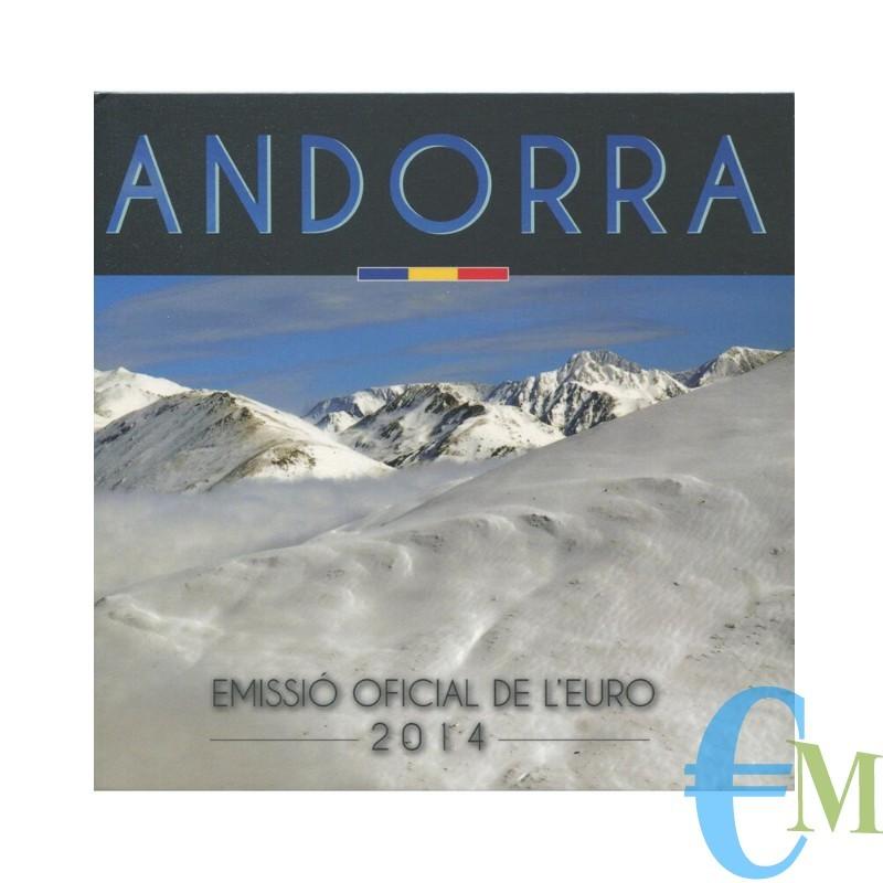 Andorra 2014 - Divisionale Euro Ufficiale - 8 valori