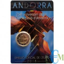 Andorra 2018 - 2 euro commemorativo 25° anniversario della Costituzione di Andorra