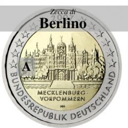 Germania 2007 - 2 euro commemorativo Mecklenburg-Vorpommern, castello di Shwerin emesso dalla zecca di Berlino con sigla A