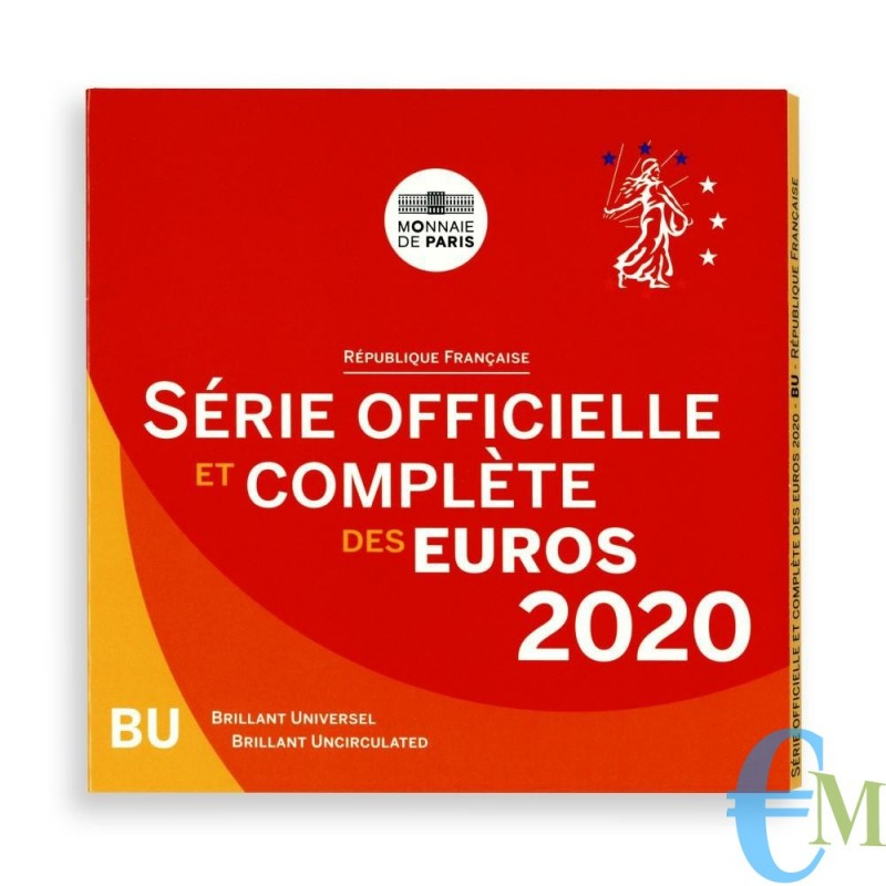 Francia 2020 - Divisionale Euro Ufficiale - 8 valori