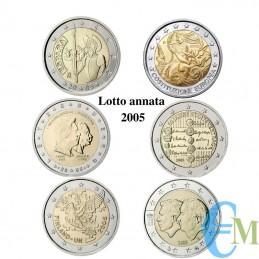 2005 - Lotto annata 2 euro...