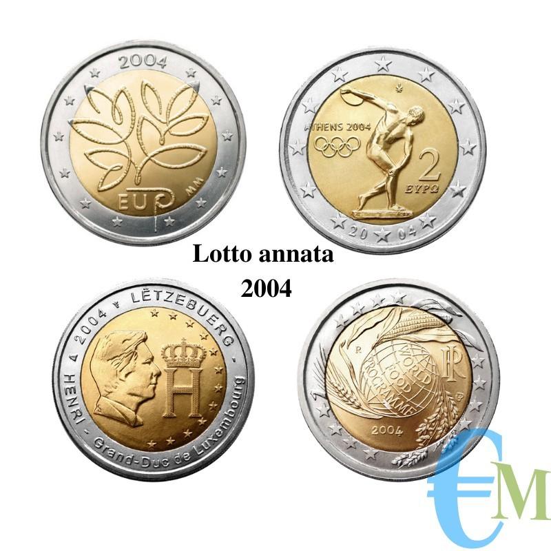 Lotto annata 2004 - 2 euro commemorativi