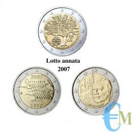 Lotto annata 2007 - 2 euro commemorativi