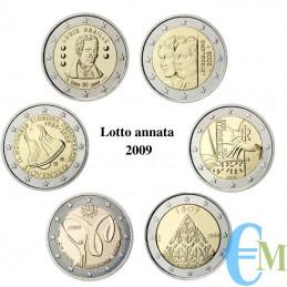 Lotto annata 2009 - 2 euro commemorativi