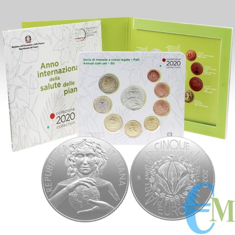 Italia 2020 - Divisionale Euro Ufficiale - 9 valori con 5€ Argento
