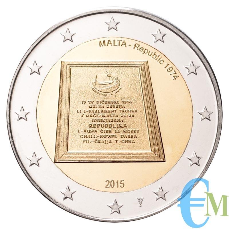 Malta 2015 - 2 euro commemorativo 5° moneta della serie dedicata alla storia della costituzione.