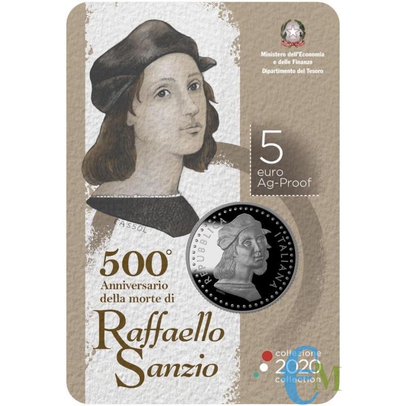5 euro 500° Anniversario della morte di Raffaello Sanzio