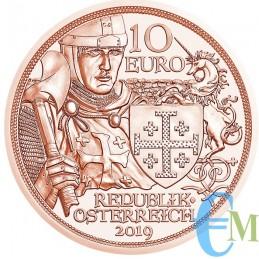 Austria 2019 - 10 euro Cavalieri Templari ''Avventura'' dritto