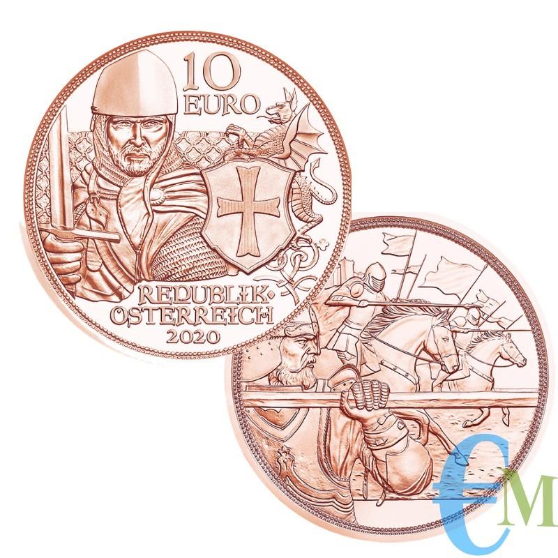Austria 2020 - 10 euro Cavalieri Templari Coraggio
