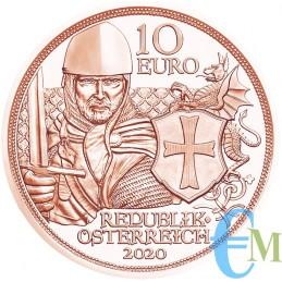 Austria 2020 - 10 euro Cavalieri Templari ''Coraggio''dritto