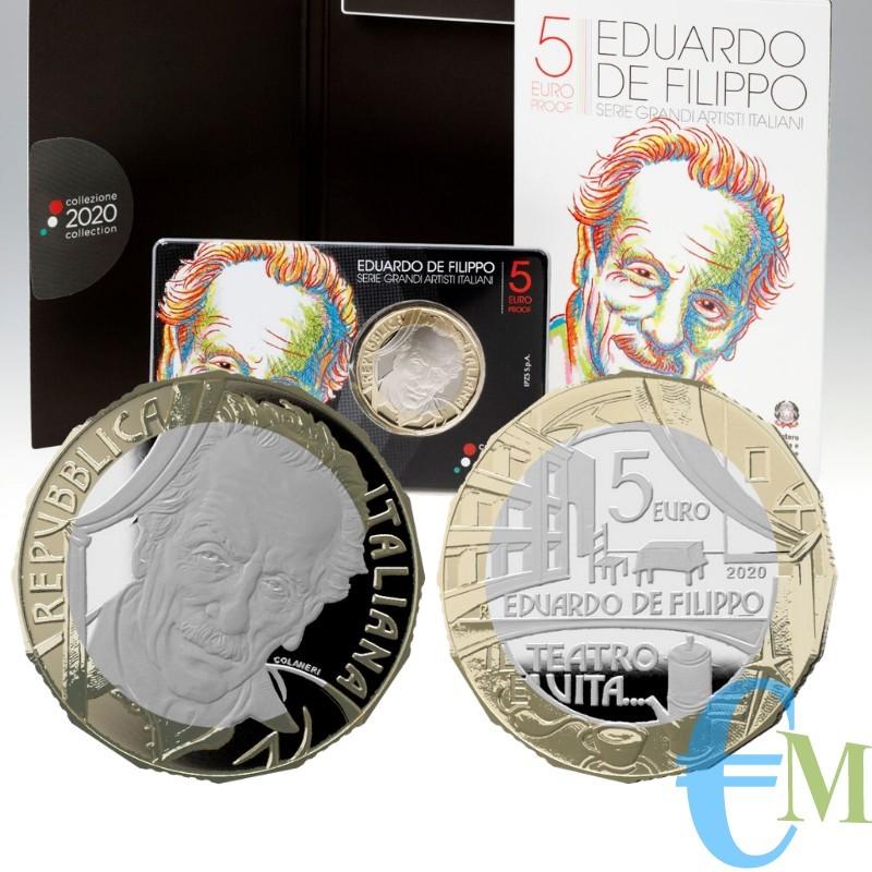 Italia 2020 - Prevendita 5 euro Grandi Artisti Italiani - Eduardo De Filippo