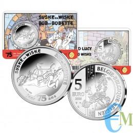 Belgio 2020 - 5 euro 75 anni  Suske en Wiske BU in coincard