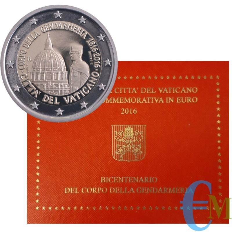 Vaticano 2016 - 2 euro 200° della Gendarmeria Vaticana