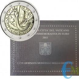Vaticano 2011 - 2 euro Gioventù G.M.G. Madrid