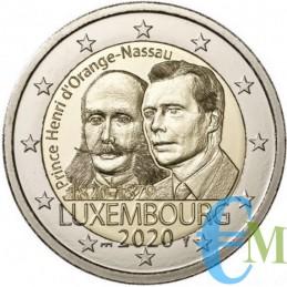 Lussemburgo 2020 - 2 euro 200 ° nascita Enrico BU in coincard moneta