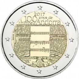 Andorra 2017 - 2 euro commemorativo 100° anniversario dell'inno nazionale di Andorra