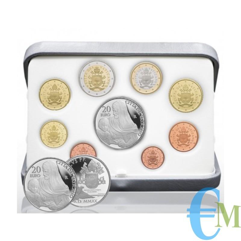 Vaticano 2020 - Divisionale Euro Proof Ufficiale - con 20€ Argento