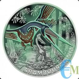 Austria 2020 - 3 euro Arambourgiania Philadelphia - 3° moneta Supersaurs fluorescenza