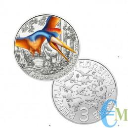 Austria 2020 - 3 euro Arambourgiania Philadelphia - 3° moneta Supersaurs