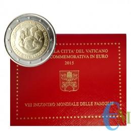 Vaticano 2015 - 2 euro commemorativo VIII incontro Mondiale delle Famiglie.