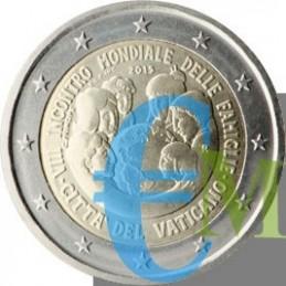 Vaticano 2015 - 2 euro commemorativo VIII incontro Mondiale delle Famiglie moneta.