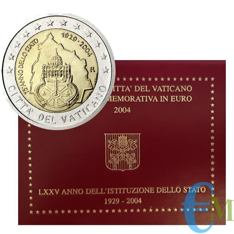Vaticano 2004 - 2 euro commemorativo LXXV anniversario della Fondazione dello Stato della Città del Vaticano 1929 - 2004