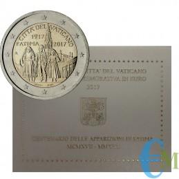 Vaticano 2017 - 2 euro Centenario Apparizioni Madonna di Fatima