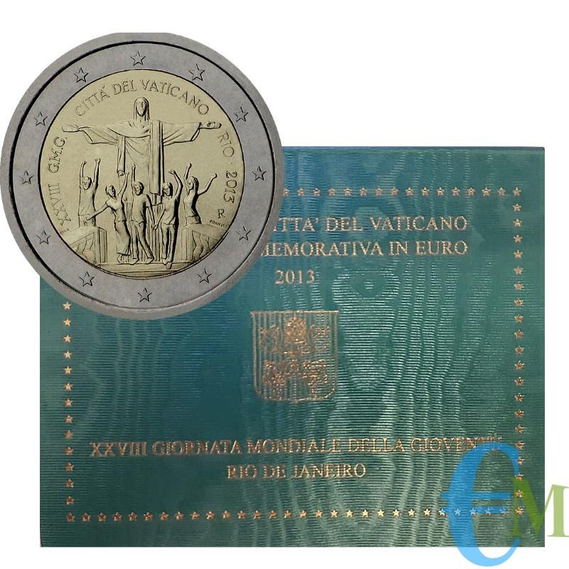 Vaticano 2013 - 2 euro Giornata Mondiale della Gioventù G.M.G. Rio