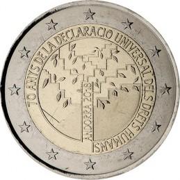 Andorra 2018 - 2 euro commemorativo 70° anniversario della Dichiarazione universale dei diritti dell'uomo moneta.