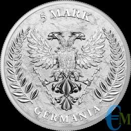 Germania 2020 - 5 Mark Germania - 1 oncia oz rovescio