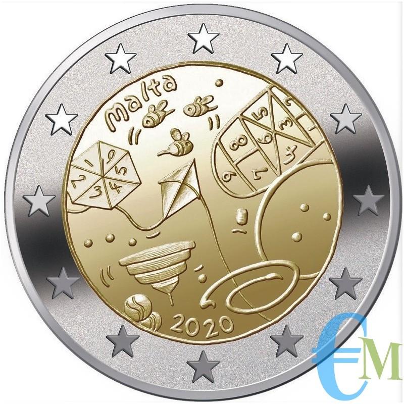 Malta 2020 - 2 euro commemorativo I Giochi 5° moneta della serie 'Dai Bambini con Solidarietà'
