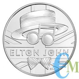 Elton John 2020 - 5£ moneta della serie Music Legends dritto