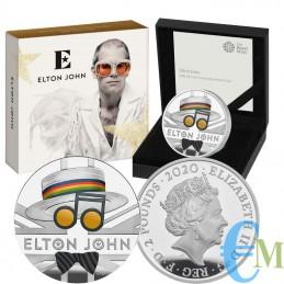 Elton John 2020 - 2 Pounds moneta della serie Music Legends - 1 Oncia OZ
