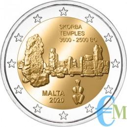 Malta 2020 - 2 euro commemorativo 5° moneta della serie dedicata ai siti preistorici maltesi.