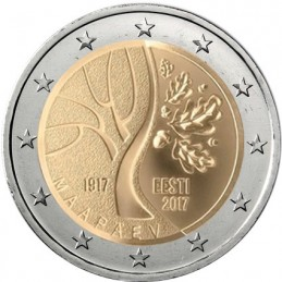 Estonia 2017 - 2 euro commemorativo cammino dell'Estonia verso l'indipendenza.