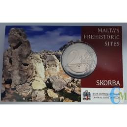 Malta 2020 - 2 euro Templi di Scorba BU in coincard retro