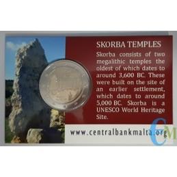 Malta 2020 - 2 euro Templi di Scorba BU in coincard