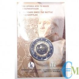 Grecia 2020 - 2 euro Battaglia delle Termopili BU in coincard