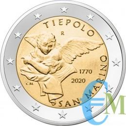 San Marino 2020 - Prevendita 2 euro 250° morte Gianbattista Tiepolo moneta