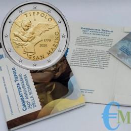 San Marino 2020 - Prevendita 2 euro 250° morte Gianbattista Tiepolo