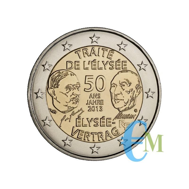 Francia 2013 - 2 euro 50° Trattato dell'Eliseo