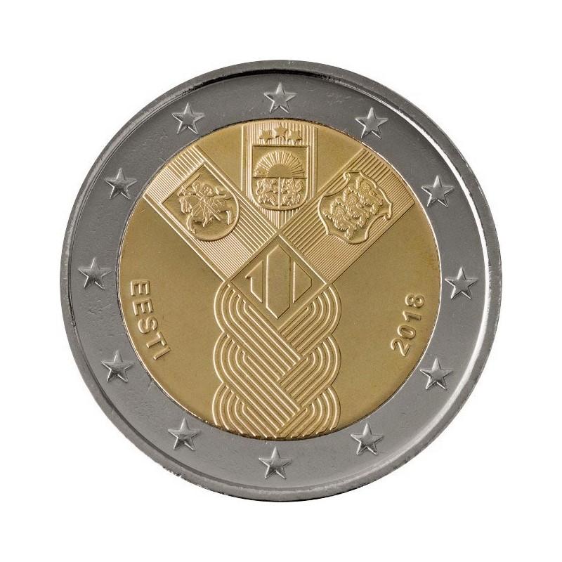 Estonia 2018 - 2 euro commemorativo 100° anniversario della fondazione di Lituania, Lettonia ed Estonia