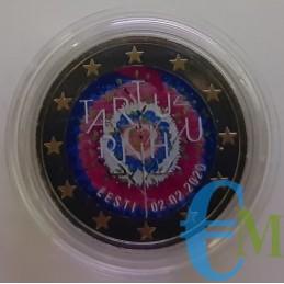 Estonia 2020 - 2 euro colorato 100° Trattato di Tartu
