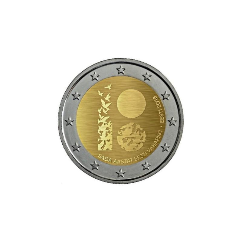 Estonia 2018 - 2 euro commemorativo 100° anniversario della Repubblica d'Estonia.