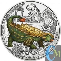 Austria 2020 - 3 euro Ankylosaurus Magniventris - 4° moneta Supersaurs dritto