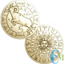 San Marino 2018-5 Euro Zodiac Aries
