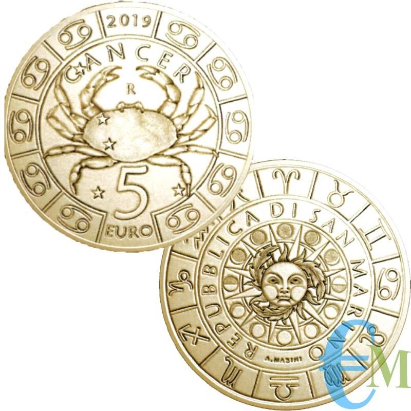 Saint-Marin 2019 - Zodiaque Cancer de 5 euros